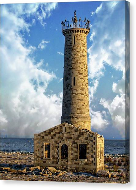 Gull Island Lighthouse Canvas Print