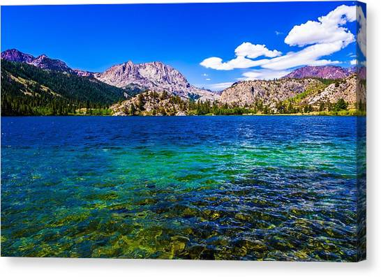 June Lake Canvas Print - Gull Lake Near June Lakes California by Scott McGuire