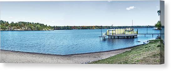 Gull Lake Panorama Canvas Print