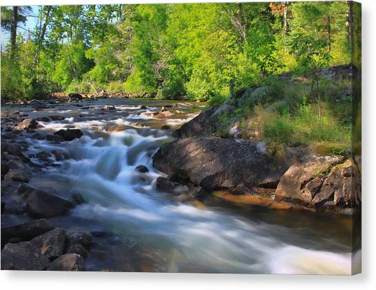 Gull River Falls - Gunflint Trail Minnesota Canvas Print