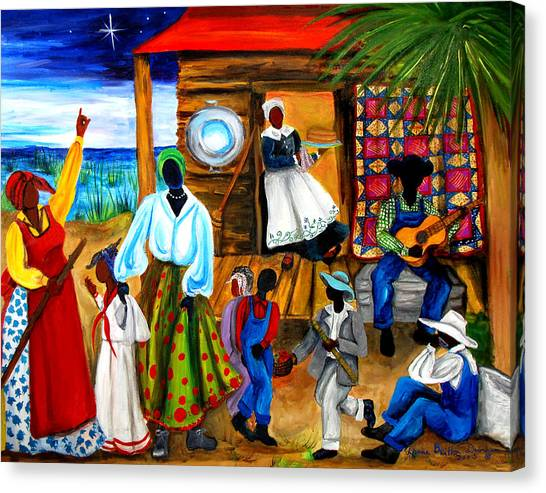Racism Canvas Print - Gullah Christmas by Diane Britton Dunham