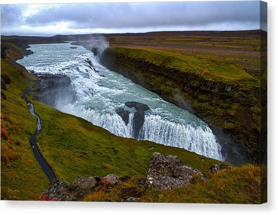 Gullfoss Waterfall #2 - Iceland Canvas Print