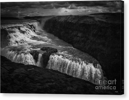 Gullfoss Waterfall Canvas Print