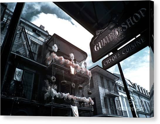 Gumbo Canvas Print - Gumbo And Mardi Gras Infrared by John Rizzuto