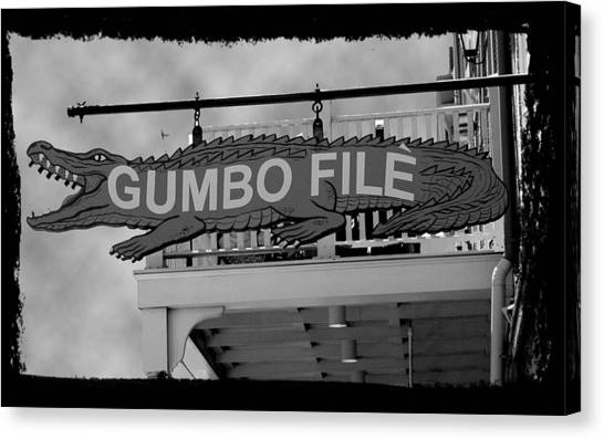 Gumbo File Canvas Print by Linda Kish