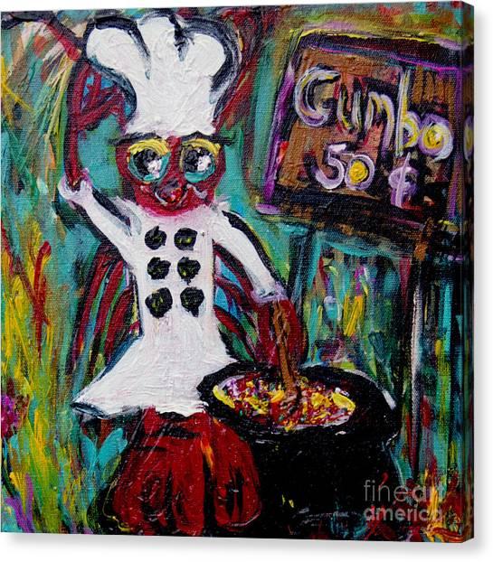 Gumbo Canvas Print - Gumbo Ya Ya by Sharon Furrate