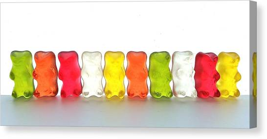 Gummy Bears In A Row Canvas Print