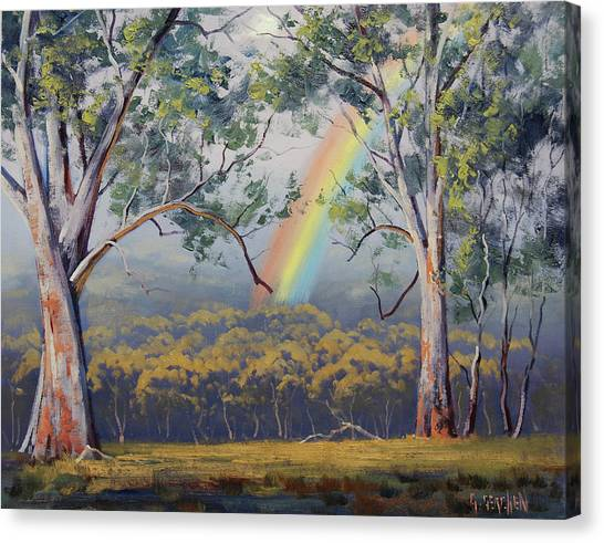 Realistic Canvas Print - Gums With Rainbow by Graham Gercken