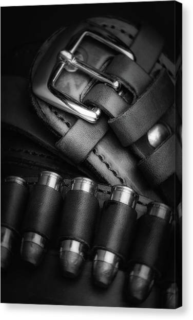 Pistols Canvas Print - Gunbelt by Tom Mc Nemar