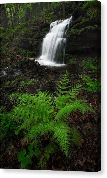 Sunderland Canvas Print - Gunn Brook Falls by Jeff Bazinet