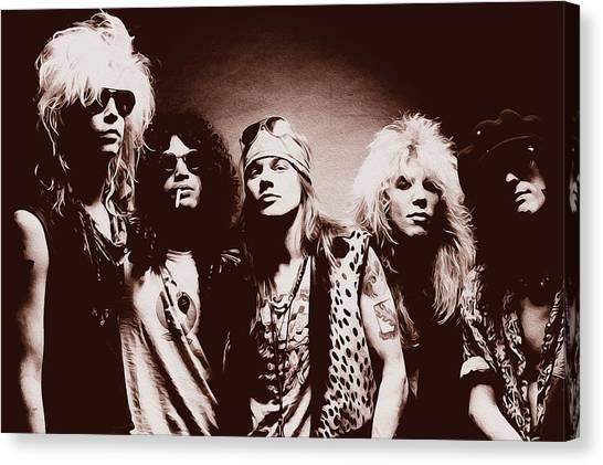 Guns N' Roses - Band Portrait 02 Canvas Print