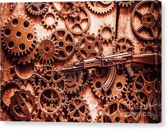 Factories Canvas Print - Guns Of Machine Mechanics by Jorgo Photography - Wall Art Gallery