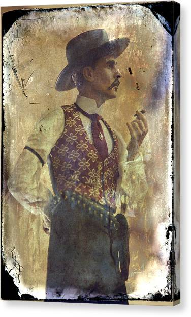 Old Home Canvas Print - Gunslinger IIi Doc Holliday In Fine Attire by Toni Hopper