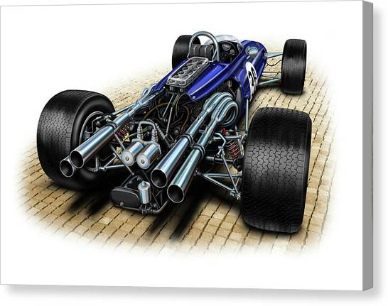 Formula 1 Canvas Print - Gurney Eagle F-1 Car by David Kyte
