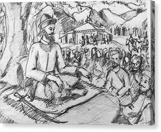 Sikh Art Canvas Print - Guru Gobind Singh Ji by Sukhpal Grewal