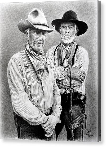 Gus And Woodrow Canvas Print