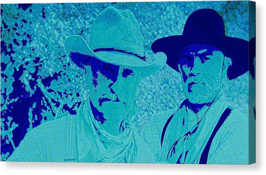 Texas Rangers Canvas Print - Gus And Woodrow by Brian Broadway