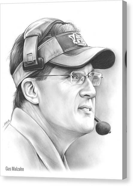 Alabama Canvas Print - Gus Malzahn by Greg Joens