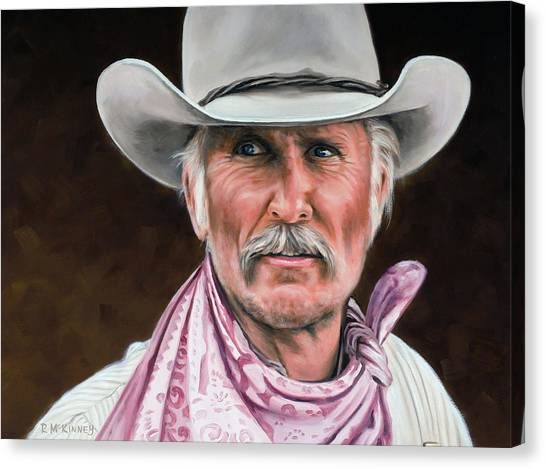 Texas Canvas Print - Gus Mccrae Texas Ranger by Rick McKinney