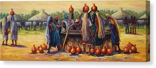 Gwari Girls Canvas Print by Aderonke ADETUNJI