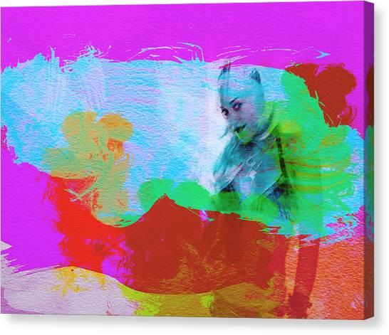 U2 Canvas Print - Gwen Stefani by Naxart Studio
