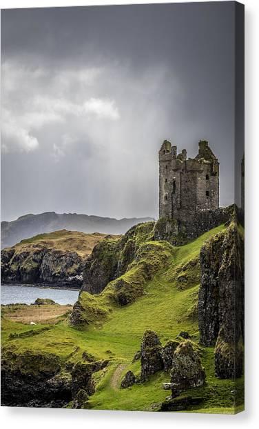 Gylen Castle On Kerrera In Scotland Canvas Print