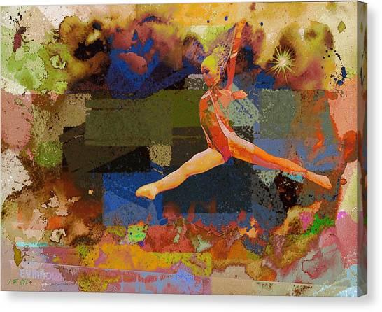 Gymnast Girl Canvas Print