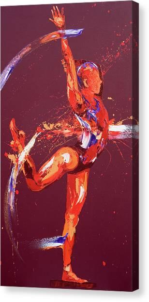 Acrobatic Canvas Print - Gymnast Nine by Penny Warden