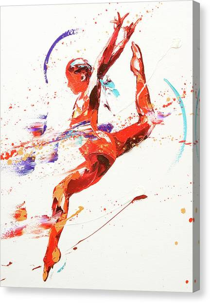 Acrobatic Canvas Print - Gymnast Two by Penny Warden