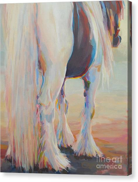 Draft Horses Canvas Print - Gypsy Falls by Kimberly Santini