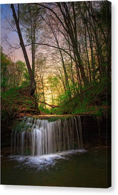 Ohio Valley Canvas Print - Gypsy Glen  Rd Waterfall  by Emmanuel Panagiotakis