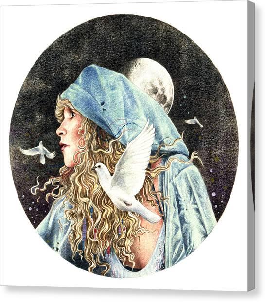 Stevie Nicks Canvas Print - Gypsy by Johanna Pieterman