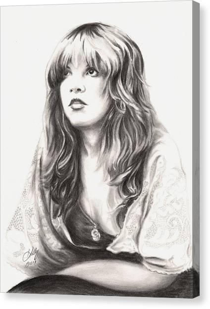 Stevie Nicks Canvas Print - Gypsy by Kathleen Kelly Thompson