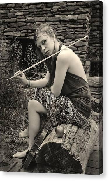 Gypsy Player Canvas Print