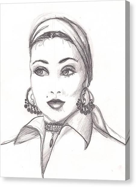 Gypsy Woman Canvas Print by Scarlett Royal
