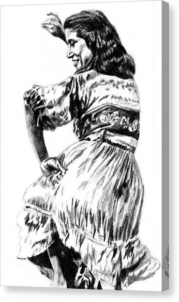 Gypsy Woman Canvas Print