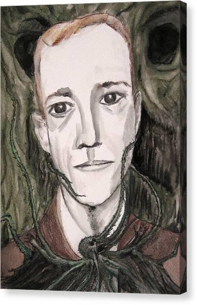 H P Lovecraft Canvas Print by Darkest Artist