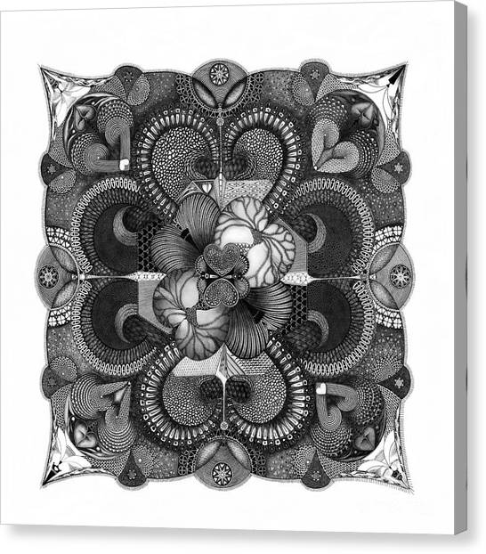 Canvas Print featuring the drawing H2H by James Lanigan Thompson MFA