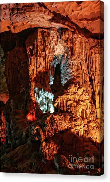 Limestone Caves Canvas Print - Ha Long Bay Cave I by Chuck Kuhn