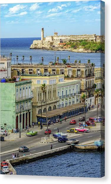 Canvas Print featuring the photograph Habana Havana  by Steven Sparks