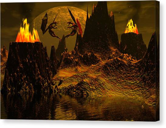 Habitation Of Dragons Canvas Print by Claude McCoy