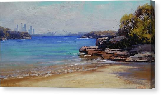 Beautiful Nature Canvas Print - Habour Beach Sydney by Graham Gercken