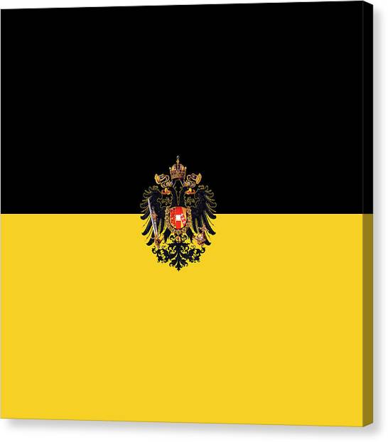 Habsburg Flag With Imperial Coat Of Arms 3 Canvas Print
