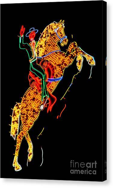 Nevada Canvas Print - Hacienda Horse And Rider by Az Jackson