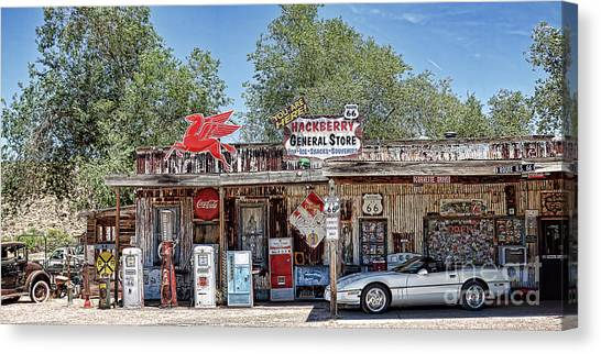 Hackberry General Store On Route 66, Arizona Canvas Print