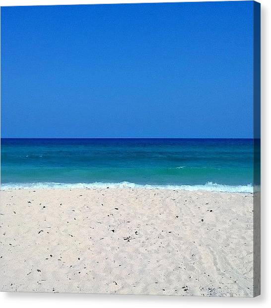 White Sand Canvas Print - My Side Of The Island by Amy Perez
