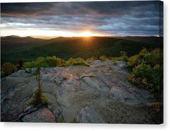 Hadley Mountain Sunset Canvas Print