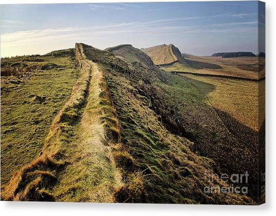 Roman Art Canvas Print - Hadrians Wall by Smart Aviation
