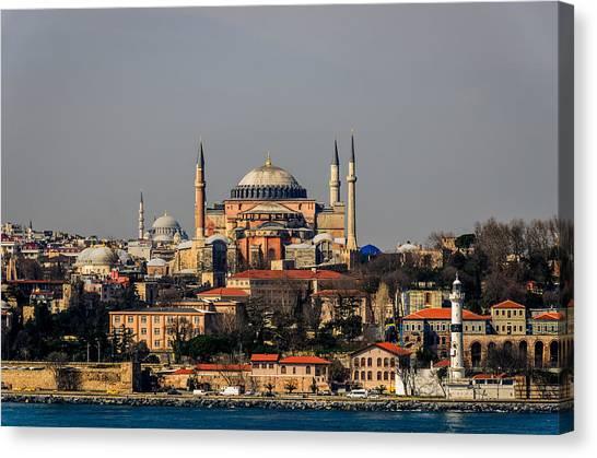 Byzantine Canvas Print - Hagia Sophia - Istanbul Turkey by Debra Martz