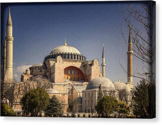 Byzantine Art Canvas Print - Hagia Sophia by Joan Carroll